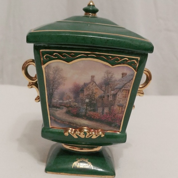 Thomas Kinkade Other - Thomas Kinkade Lamplight Lane Music Box